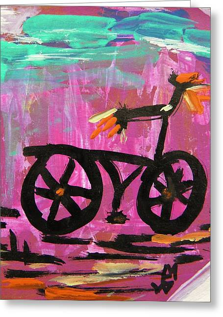 Mcw Greeting Cards - First Bike Greeting Card by Mary Carol Williams