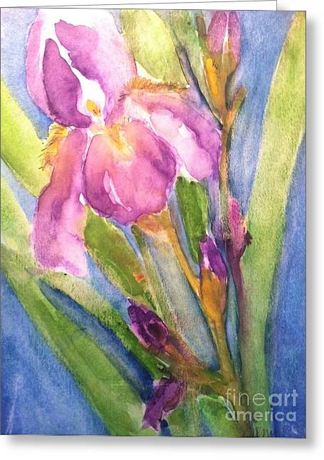 First Bloom Greeting Card by Sherry Harradence