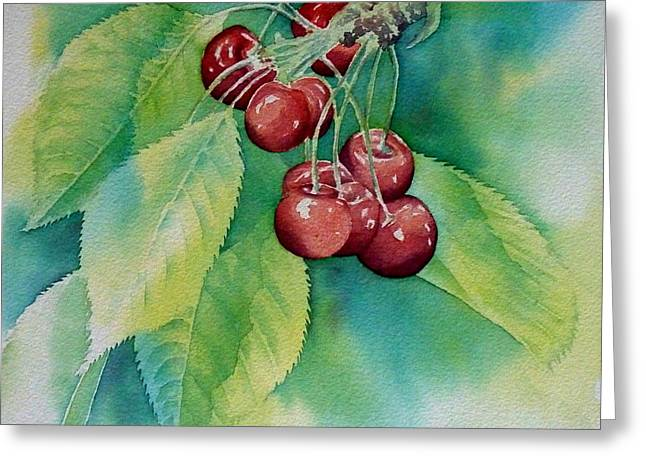 Frucht Greeting Cards - First cherries Greeting Card by Thomas Habermann
