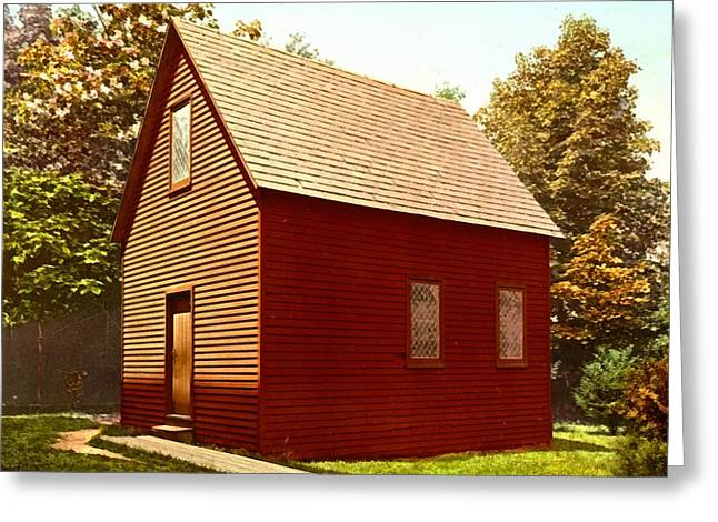 Red Buildings Greeting Cards - First Church Salem Massachusetts Greeting Card by Detroit Photographic