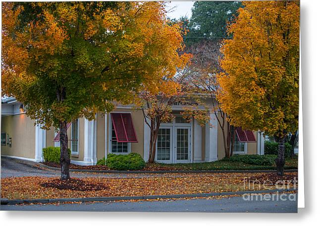Citizens Bank Photographs Greeting Cards - First Citizens Bank Greeting Card by Dale Powell