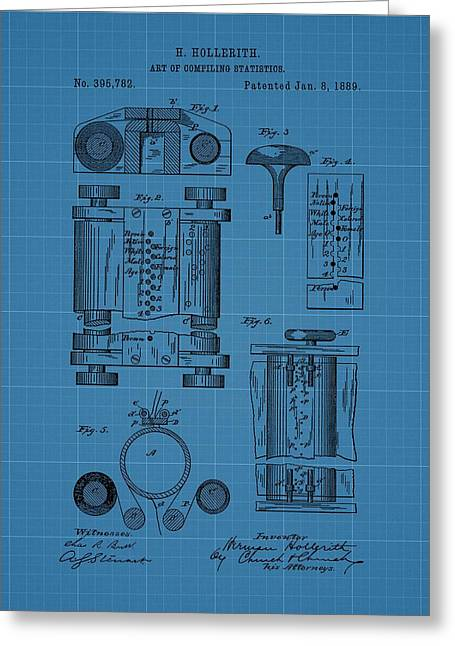 Computer Drawings Greeting Cards - First Computer Blueprint Patent Greeting Card by Dan Sproul