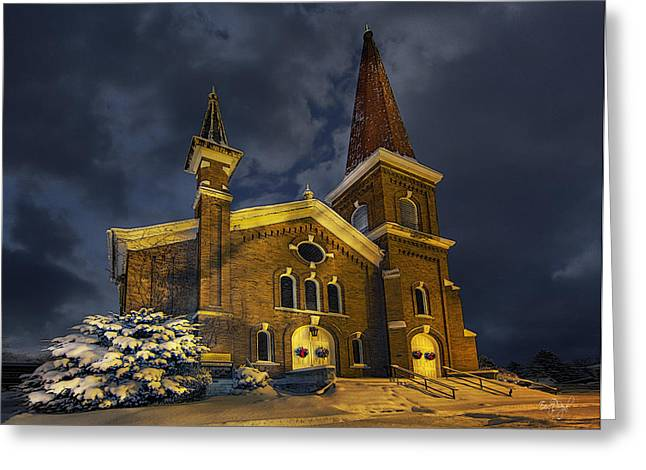 Firsts Photographs Greeting Cards - First Congregational Church Greeting Card by Everet Regal