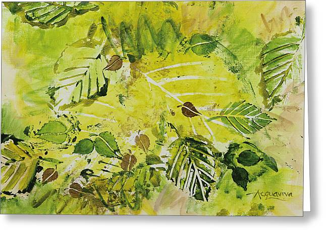 Live Art Greeting Cards - First Day of Spring Greeting Card by Julie Acquaviva Hayes