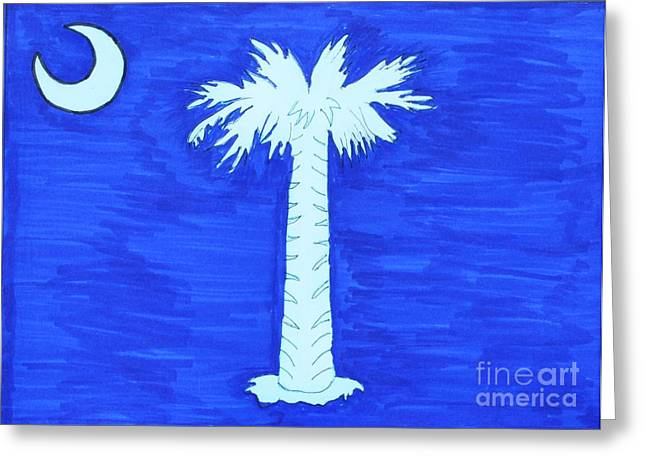 First Navy Jack Greeting Cards - First Flag of So. Carolina Greeting Card by Bill Hubbard