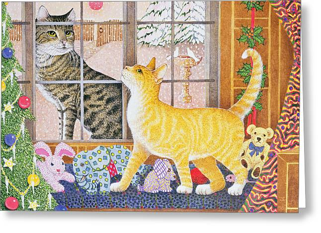 First Footing Greeting Card by Pat Scott