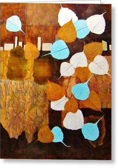 Boardroom Mixed Media Greeting Cards - First Frost Greeting Card by David Raderstorf