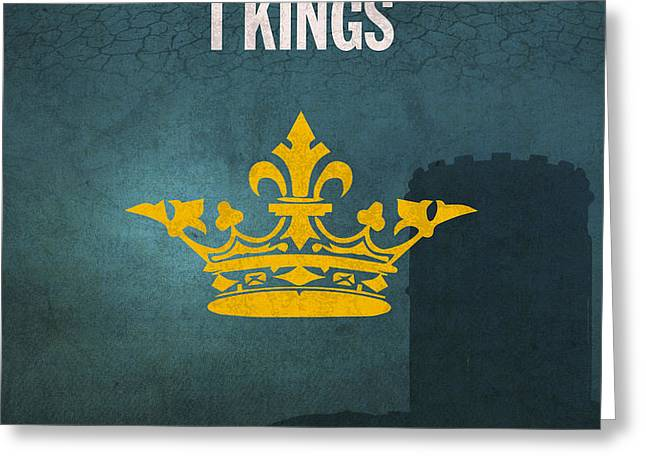 First Kings Books Of The Bible Series Old Testament Minimal Poster Art Number 11 Greeting Card by Design Turnpike