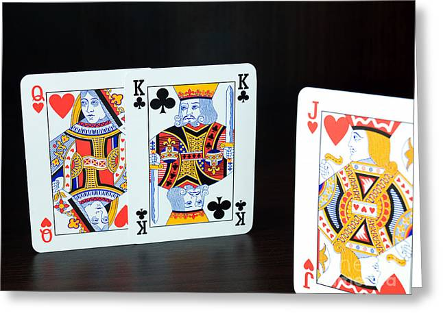 Playing Cards Photographs Greeting Cards - First knight Greeting Card by Sinisa Botas