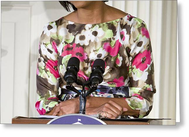 First Lady Michelle Obama Greeting Card by JP Tripp