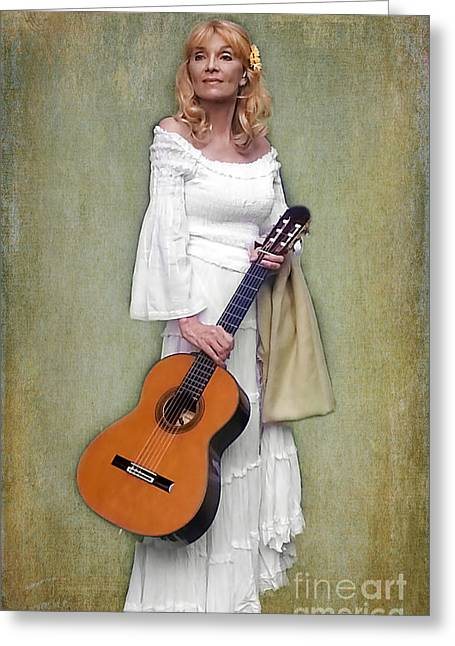 First-lady Greeting Cards - First Lady of Guitar Greeting Card by Barbara McMahon
