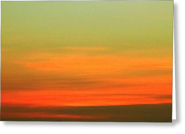 First Sunset Greeting Cards - First Light 2 Greeting Card by Randall Weidner