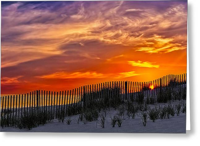 First Light At Cape Cod Beach  Greeting Card by Susan Candelario