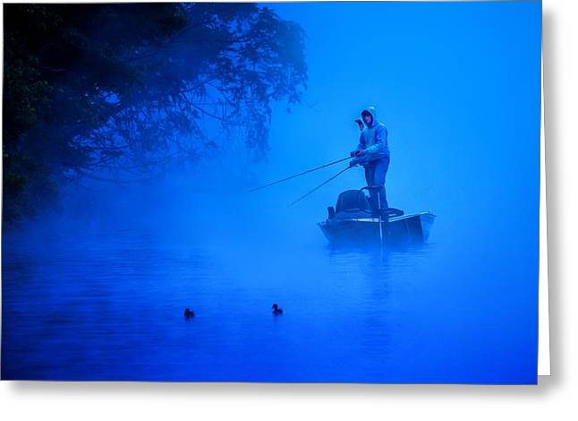 Solitary Activities Greeting Cards - First Light Greeting Card by Brian Stevens