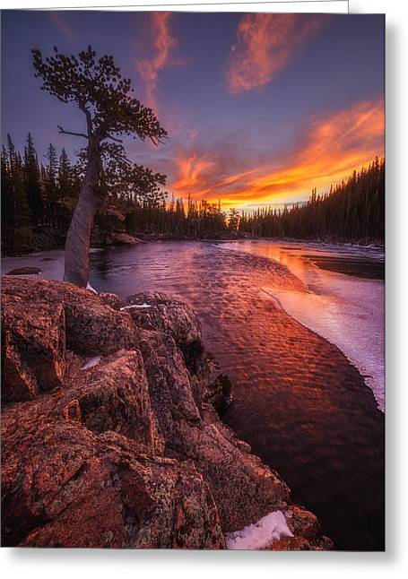 Metal Art Photography Greeting Cards - First Light Greeting Card by Darren  White