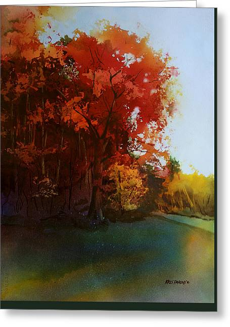 First Light Greeting Card by Kris Parins