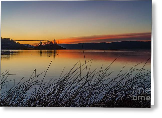 Sunrise Over California Greeting Cards - First Light Greeting Card by Mitch Shindelbower