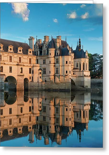 First Light Of Morning On Chateau Greeting Card by Brian Jannsen