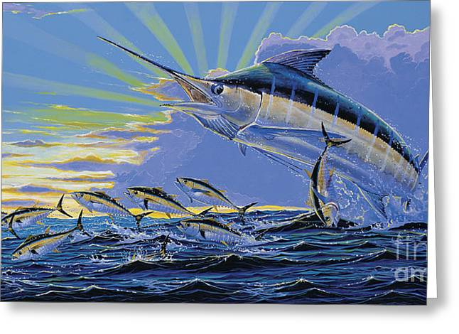Black Marlin Greeting Cards - First Light Off00101 Greeting Card by Carey Chen