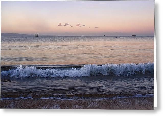First Light On Ma'alaea Bay Greeting Card by Trever Miller
