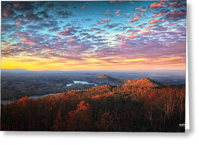 Tennessee River Greeting Cards - First Light Over The Ocoee River Greeting Card by Steven Llorca