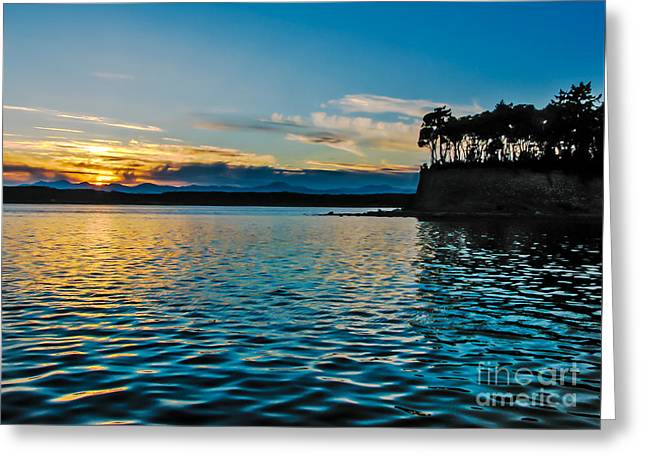 First Light Greeting Card by Robert Bales