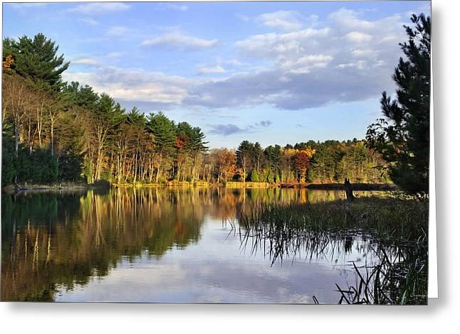 Peaceful Scene Greeting Cards - First Light Sunrise Landscape Greeting Card by Christina Rollo