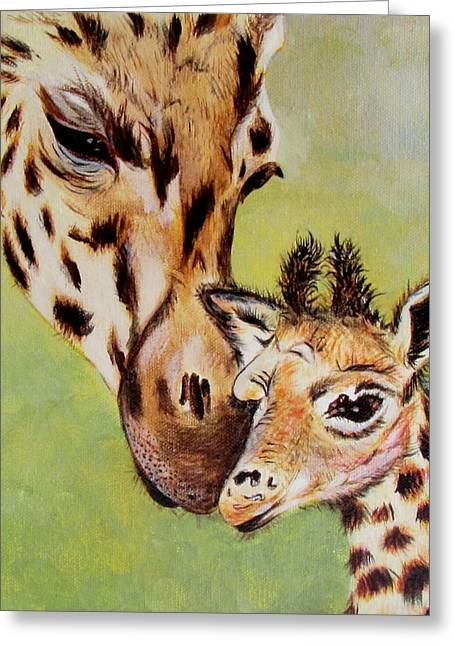 First Love Greeting Card by Susan Duxter