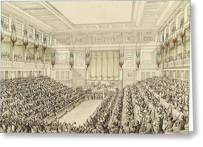 First Meeting Of The National Assembly, 4th May 1848  Greeting Card by Michel C Fichot