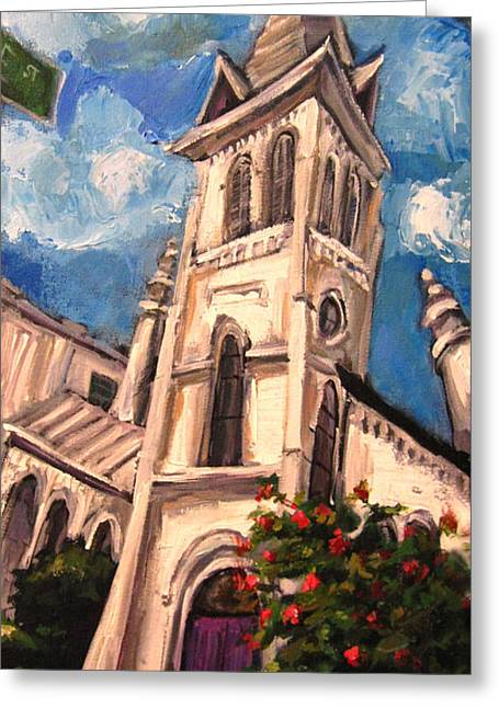 Huntsville Greeting Cards - First Methodist Huntsville 2 Greeting Card by Carole Foret