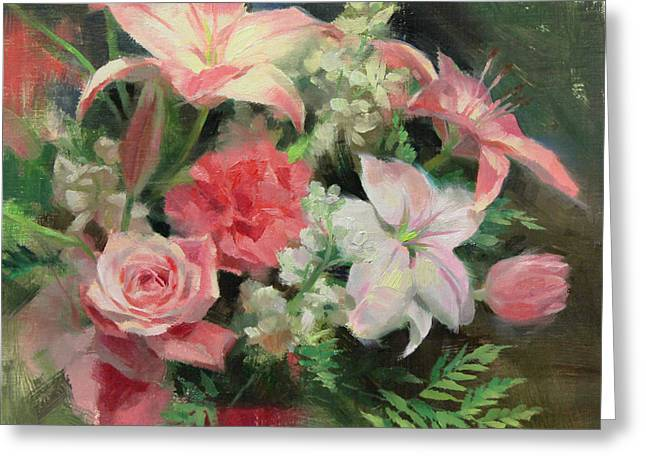Floral Still Life Greeting Cards - First Mothers Day Greeting Card by Anna Bain