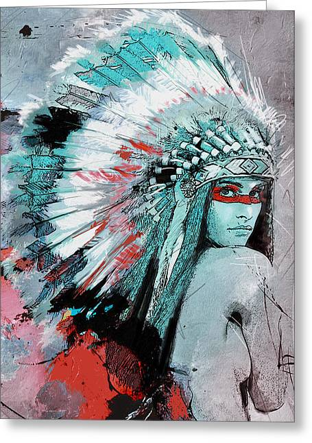 First Nations 005 C Greeting Card by Corporate Art Task Force