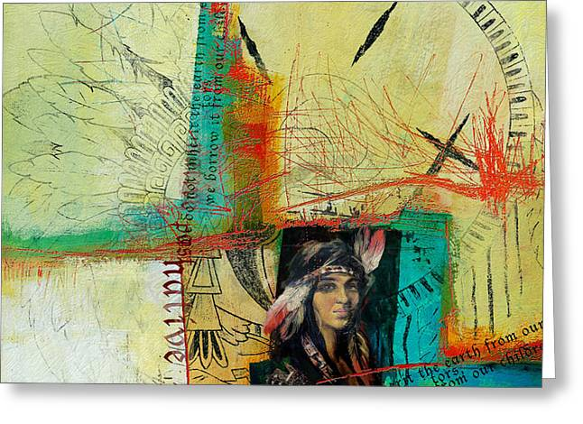 First Nations 10 Greeting Card by Corporate Art Task Force