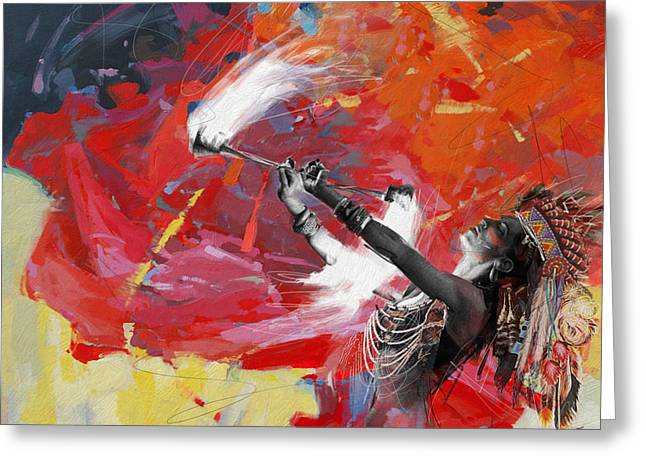 Aboriginal People Greeting Cards - First Nations 18 Greeting Card by Corporate Art Task Force