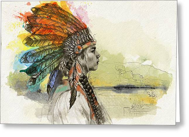 Aboriginal Art Paintings Greeting Cards - First Nations 26 Greeting Card by Corporate Art Task Force