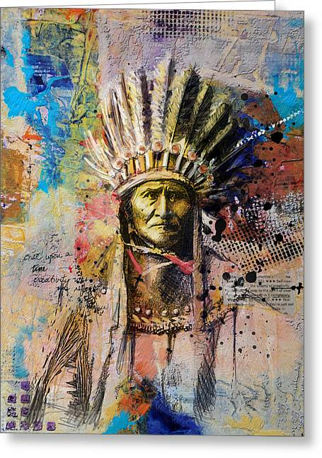Aboriginal People Greeting Cards - First Nations 6 Greeting Card by Corporate Art Task Force