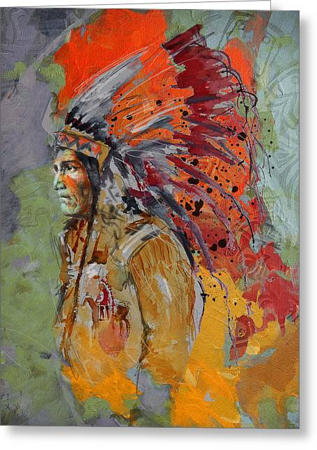 First Nations 9 B Greeting Card by Corporate Art Task Force