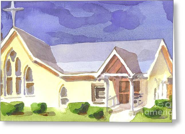 Ironton Greeting Cards - First Presbyterian Church II Ironton Missouri Greeting Card by Kip DeVore