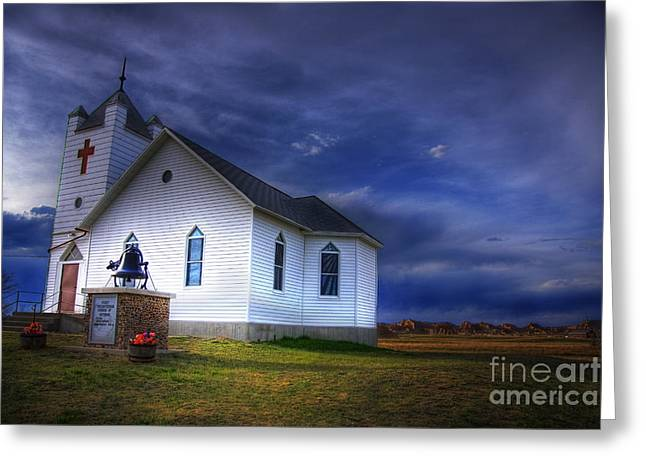 First Sunset Greeting Cards - First Presbyterian Church Interior South Dakota Greeting Card by Wayne Moran
