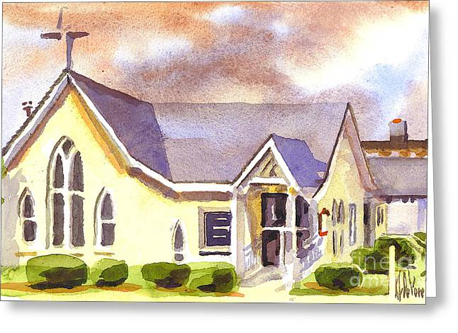 First Presbyterian Church Ironton Missouri Greeting Card by Kip DeVore