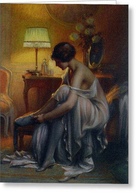First-lady Digital Art Greeting Cards - First Primers Greeting Card by Delphin Enjolras
