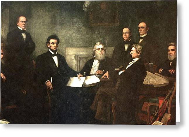 First Reading of the Emancipation Proclamation of President Lincoln Greeting Card by Nomad Art And  Design