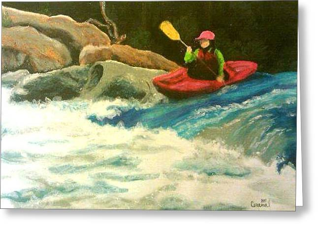 Whitewater Pastels Greeting Cards - First Run Greeting Card by Cireena Katto