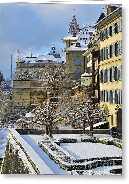 Berne Canton Greeting Cards - First Snow - Bern - Switzerland Greeting Card by JH Photo Service