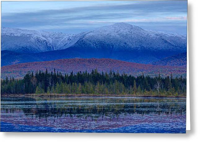 New England Snow Scene Greeting Cards - First Snow from Cherry Pond Greeting Card by Christopher Whiton