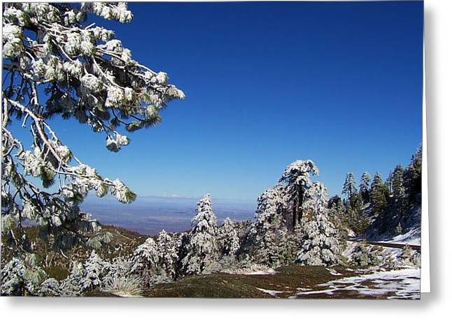 Angeles Forest Greeting Cards - First Snow Of The Season Greeting Card by Glenn McCarthy Art and Photography