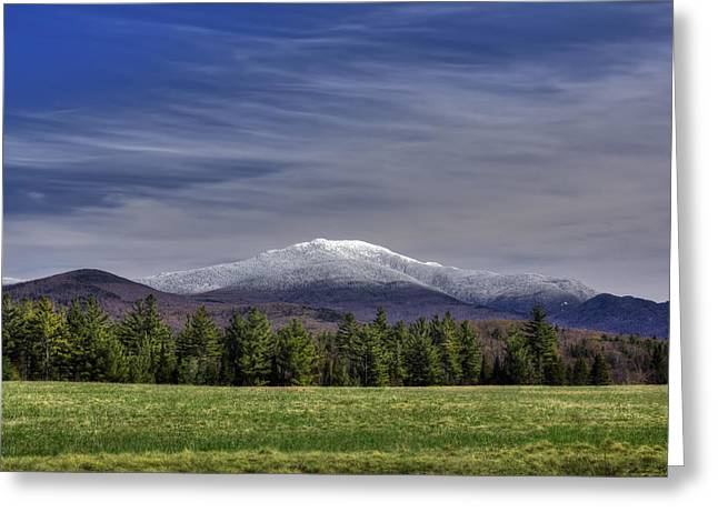 New England Snow Scene Greeting Cards - First Snow on Lafayette Greeting Card by Christopher Whiton