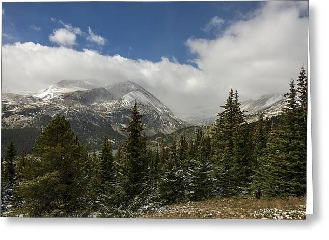 First Snow Greeting Cards - First Snow On Mount Lincoln - Colorado Greeting Card by Brian Harig