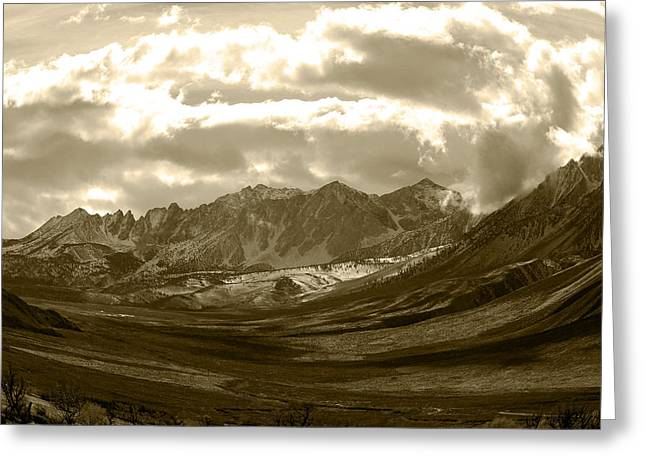 Storm Prints Digital Art Greeting Cards -  Owens Valley Greeting Card by Arpad Petrass