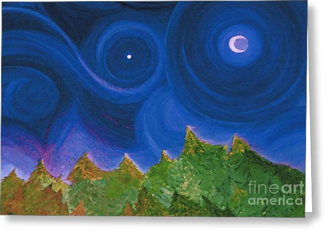 Recently Sold -  - Star Of Bethlehem Greeting Cards - First Star Wish by jrr Greeting Card by First Star Art